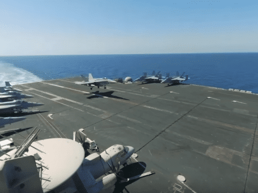 Virtual Tour of the USS Roosevelt Planes Carrier in Persian Gulf